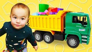 Дада игрушки - Видео для малышей. Развивающие игрушки геометрические фигуры
