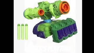 Matt's playtime.  Marvel Avengers infinity War Nerf Hulk Gun and some new spinners