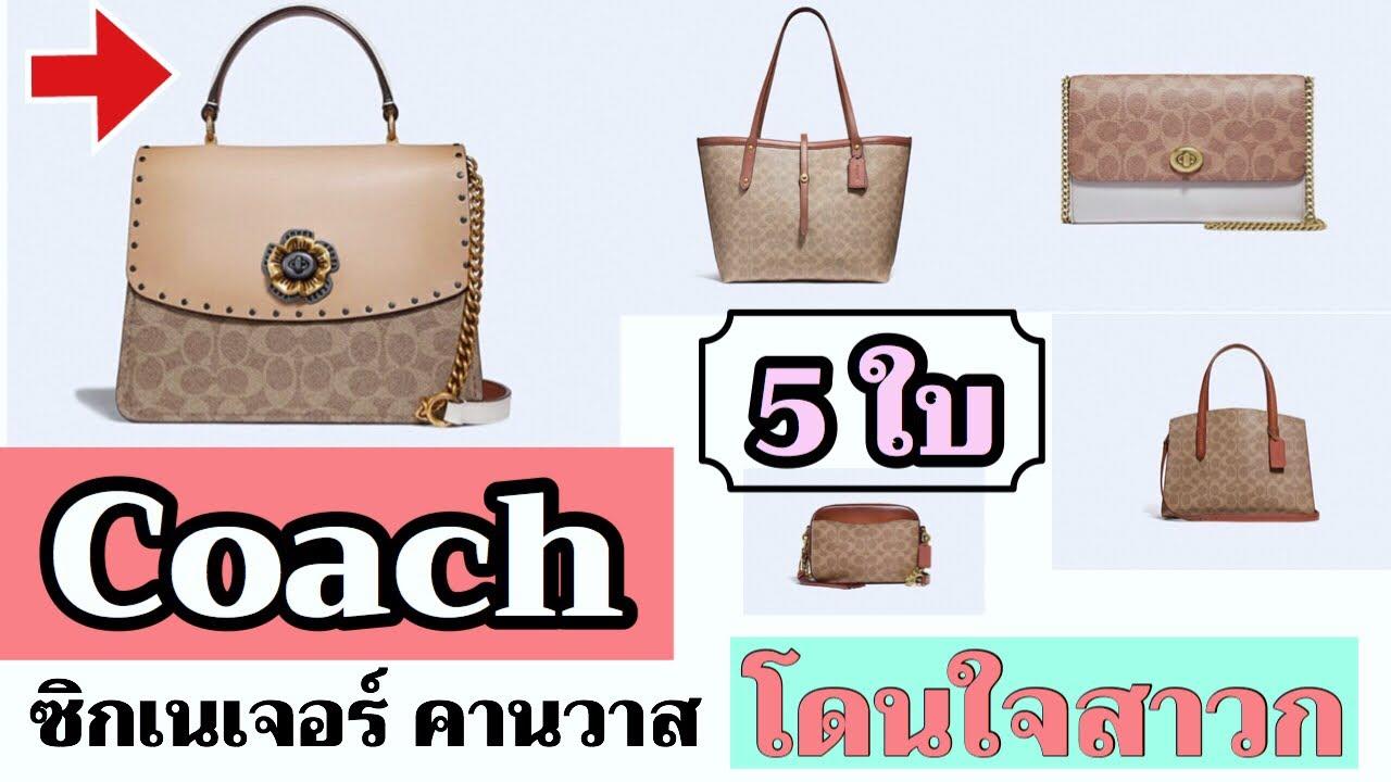 กระเป๋าโค้ช 5ใบโดนใจสาวก| Coach Signature Coated Canvas 5ใบที่น่าซื้อ|TannyTan Channel