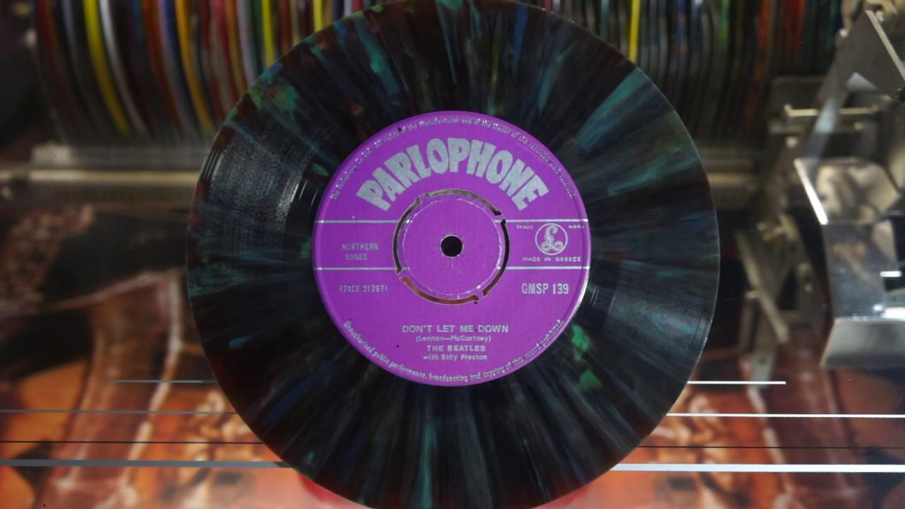 Jonnie's Jukebox Plays: Don't Let Me Down - The Beatles 1969 Mutlicolour Vinyl Record