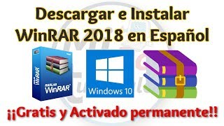 Tutorial WinRAR 2018 Español 32 y 64 bits en Windows | WinRAR full | MiPC Tutoriales