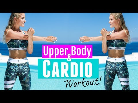 Upper Body & Cardio Workout FAT BURNING EXERCISES | Rebecca Louise