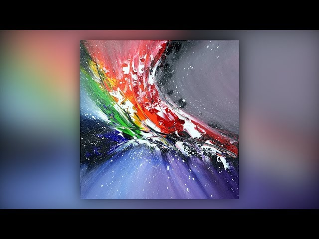 Colorful Abstract Painting / Acrylic Paint / Palette Knife Technique / Demo #023