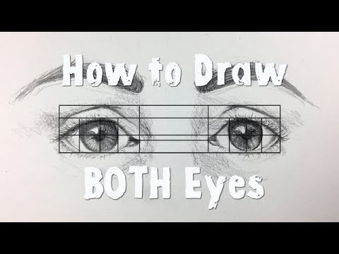 how to draw symmetrical eyes