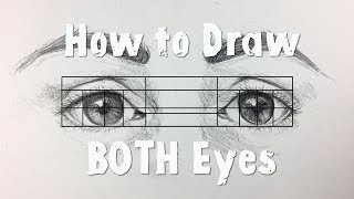 How to Draw BOTH Eyes (Evenly and Symmetrically!)