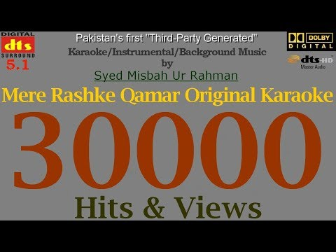 Mere Rashke Qamar - Original Karaoke - Instrumental - Background Music