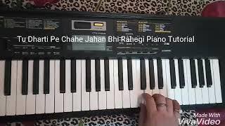 Tu Dharti Pe Chahe Jahan Bhi Rahegi (Jeet) Piano Tutorial