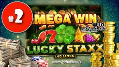 Lucky Staxx 40 Lines slot FASTEST Mega Big win #2