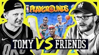 Kristaps Porzingski und Giannis Ante-tu-WAS??? NBA PLAYGROUNDS [Tomy vs Kuschi]