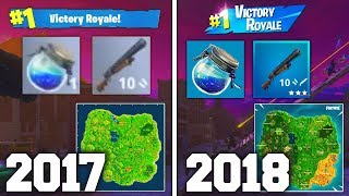 Fortnite Battle Royale ONE YEAR AGO... (Season 1 vs New Season 5)