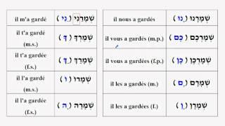 Suffixes de complément d'objet direct des verbes