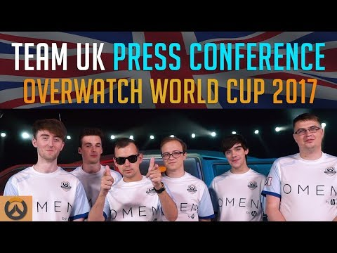 Team United Kingdom | Press Conference Overwatch World Cup 2017 - Akshon Esports