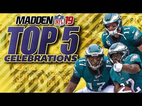 Madden 19 TOP 5 CELEBRATIONS!