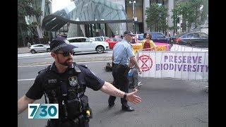 Extinction Rebellion activists in Australia use disruption tactics from Hong Kong demos | 7.30