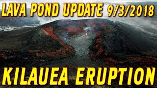 NEWS UPDATE Hawaii Kilauea Volcano Eruption Lava Pond Report for 9/3/2018