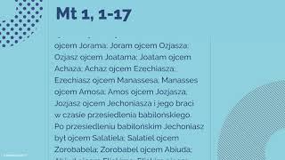 #Ewangelia   17 grudnia 2018   (Mt 1, 1-17)