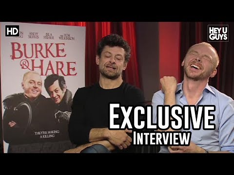 Simon Pegg & Andy Serkis - Burke and Hare Movie Exclusive Interview