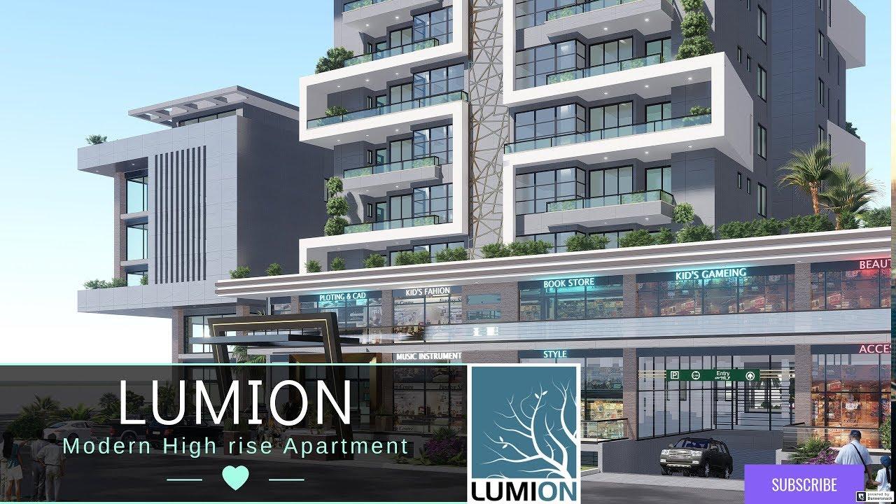 Lumion Modern High Rise Apartment Exterior Walk Through