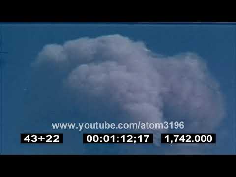 HD Nevada desert atomic bomb testing and mushroom cloud