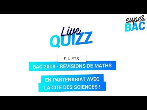 Bac 2018 - Révisions générales de Maths
