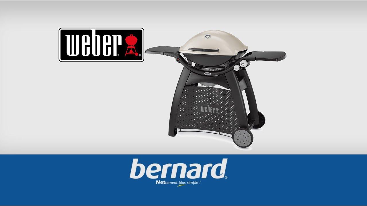 barbecue gaz weber q3000 bernard youtube. Black Bedroom Furniture Sets. Home Design Ideas