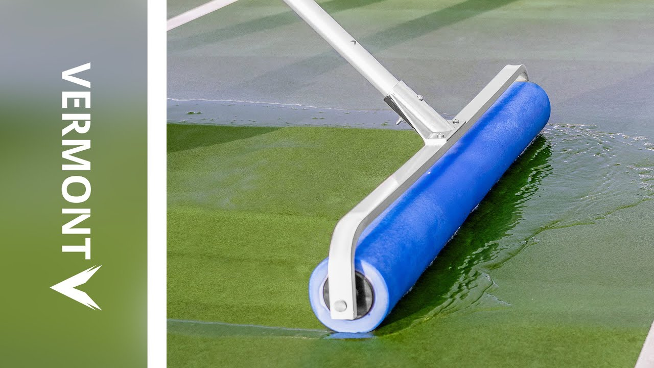 Vermont Rol Dri Tennis Court Roller Squeegee Blue Pva Youtube