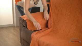 How to install a chaise longue cover - arms separate