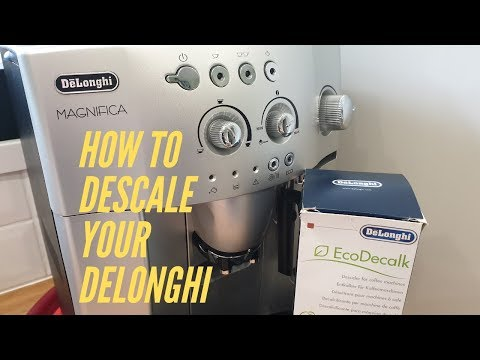 How To Descale a DeLonghi Magnifica Bean to Cup Coffee Machine