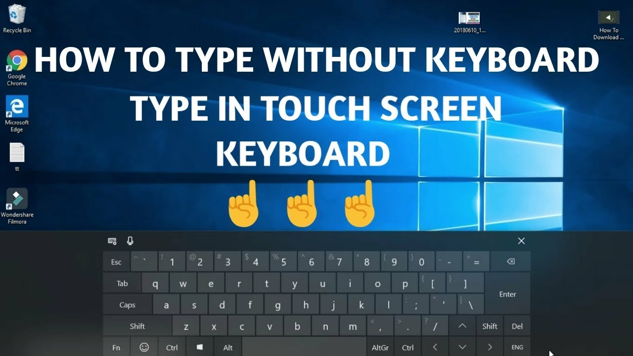 How Type Without Keyboard Enable Touch Screen ⌨️Keyboard ⌨️ In Windows 10 -  Tamil Tech World