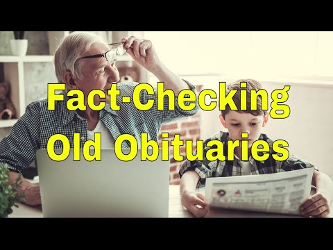 Finding And Fact-Checking Old Obituaries In Online Newspaper Archives | AF-320