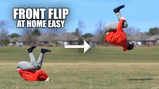 Learn to FrontFlip - At Home Parkour - Turn a ground Roll Up in Air Secret
