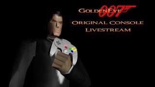 GoldenEye 007 N64 - Full 00 Agent Playthrough Livestream - Real N64 capture
