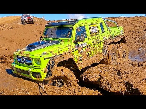 What if RC Cars Jeep 4x4 wins Mercedes 6x6 in the MUD and OFF Road?