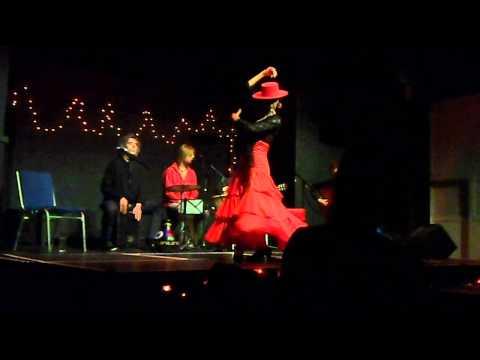 Amanda Frescura flamenco dancer 'Garotin' - with 'Flamenco Loco' Stroud, West UK Sept. 2013