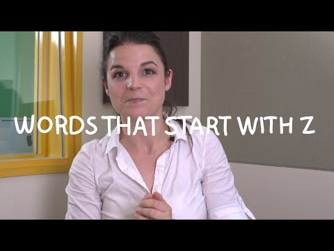 Weekly English Words with Alisha - Words that Start with Z
