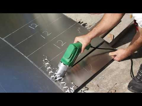 Cut Round Hole With Harbor Freight Sheet Metal Sheer Doovi