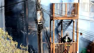 3 Alarm San Francisco Fire 2nd Ave./Geary 10/16/2015 Extended