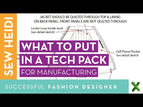 Fashion Design Tech Pack What Do I Put In It Youtube