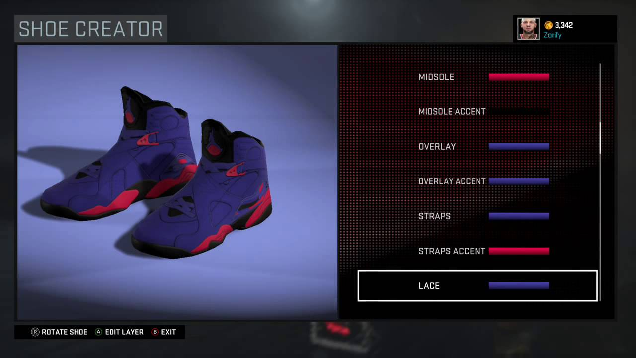 ad7c2bf1801 NBA 2K16 Shoe Creator - Air Jordan 8 Custom