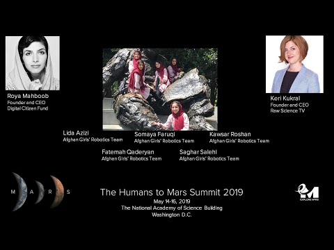 H2M 2019: Afghan Girls' Robotics Team At The Humans To Mars Summit 2019