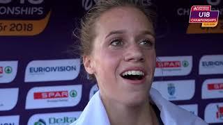 Lena Lebrun (FRA) After Winning Gold In The 2000m Steeple