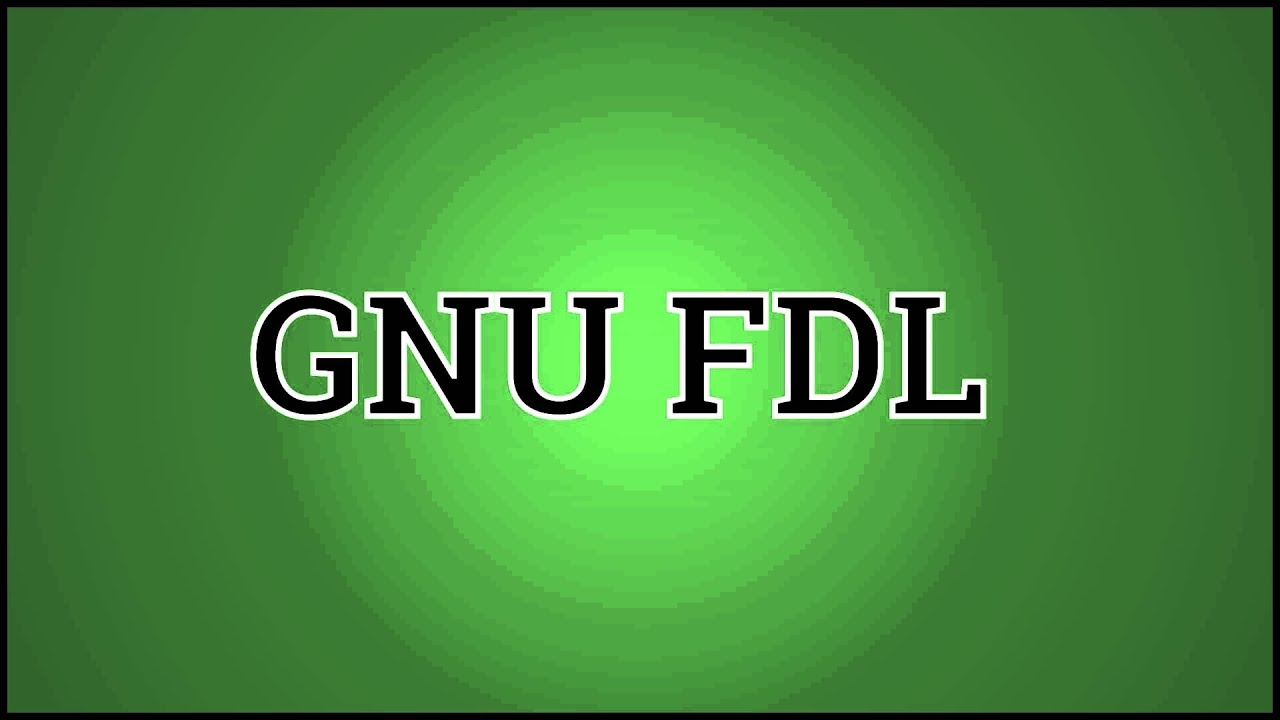What GNU FDL Means - YouTube