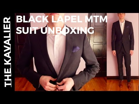 Unboxing My Black Lapel Super 110s Made To Measure Suit | Custom Suit Review