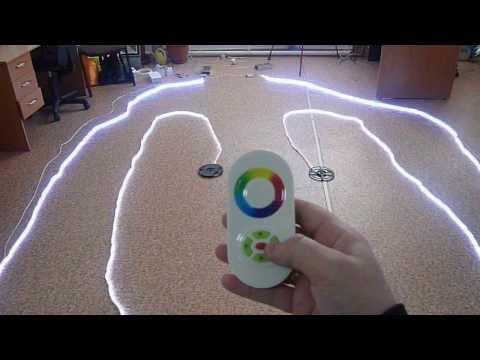 видео: Подключение 20 метров светодиодной ленты rgb