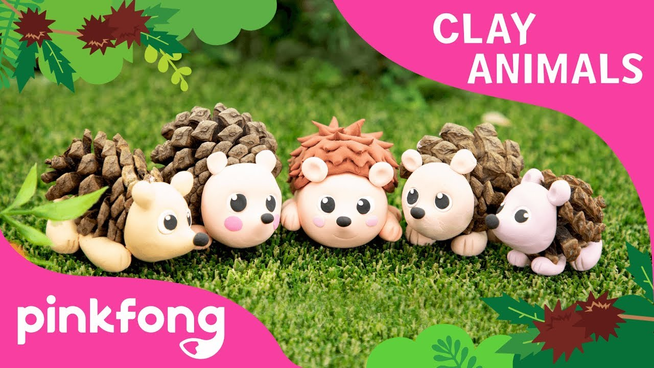 How to make a Hedgehog with Clay | Clay Animals | DIY | Animal Songs | Pinkfong Clay Time