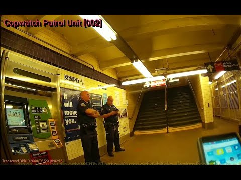 NYPD Transit District 20 Officers Endangering the lives of both themselves & Civilians