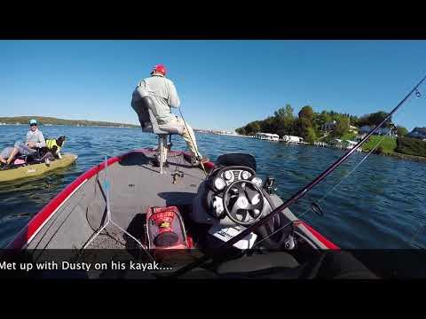 Drop Shot Fishing For Bass In Lake Geneva