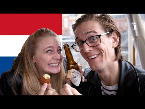FOOD TOUR! Let's Try Dutch Food 😋 Amsterdam Food Tour
