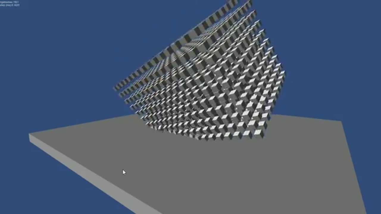 Unity3D & Bullet Physics 1 5k rigidBodys