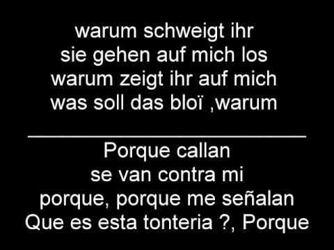 LaFee - Warum (en Español Y Aleman)